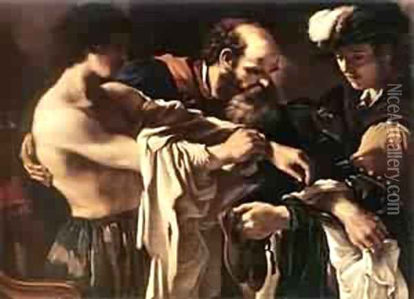Return Of The Prodigal Son 1619 Oil Painting - Guercino