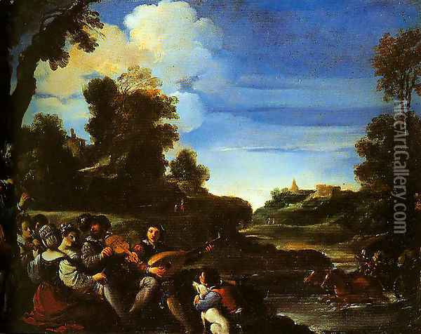 Concert Champetre Oil Painting - Guercino