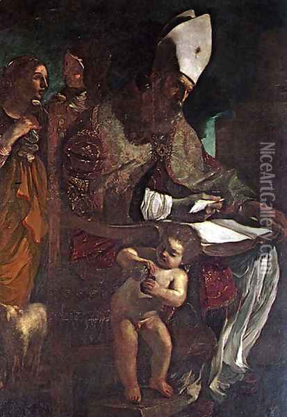 St Augustine Oil Painting - Guercino