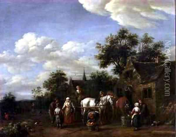 A Farriers Shop 2 Oil Painting - Barend Gael or Gaal