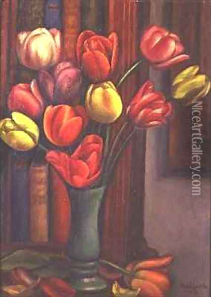 Tulips Oil Painting - Mark Gertler
