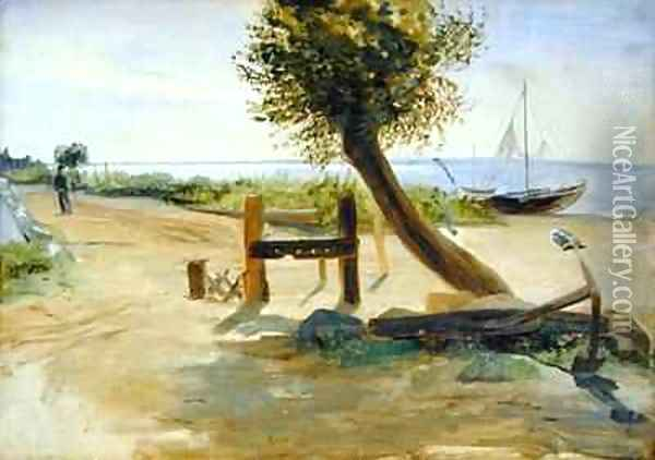 The Banks of the Elbe Oil Painting - Jacob Gensler