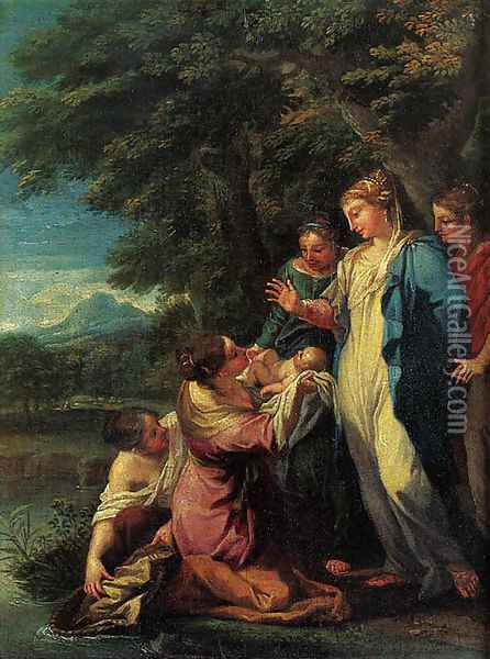 The Finding of Moses Oil Painting - Luigi Garzi
