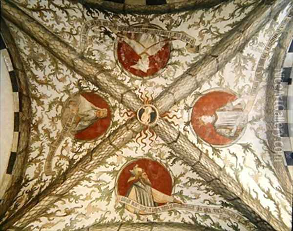 Vault depicting four prophets from the Loggia dAnnunciazione Oil Painting - d'Allamagna Giusto