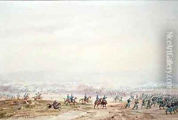Battle of Isly in 1844 Oil Painting - Gaspard Gobaut
