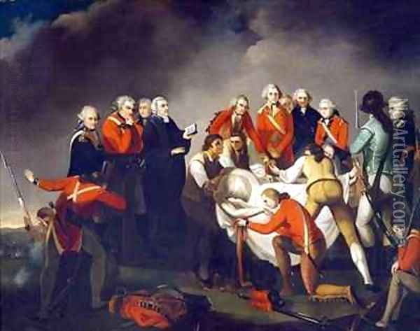 The Burial of General Simon Fraser 1729-77 after the Battle of Saratoga in 1777 Oil Painting - Graham, John
