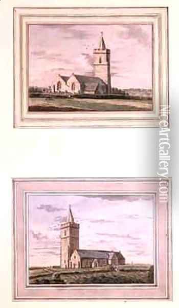 Two Views of St Saviours Guernsey Oil Painting - Joshua Gosselin