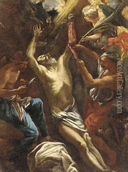The Flaying of Marsyas Oil Painting - Luca Giordano