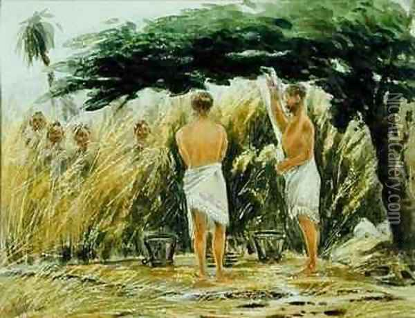 Ablutions Gambia or Sierra Leone Oil Painting - W. G. Gibson