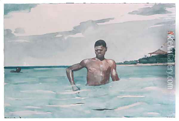 The Bather Oil Painting - Winslow Homer