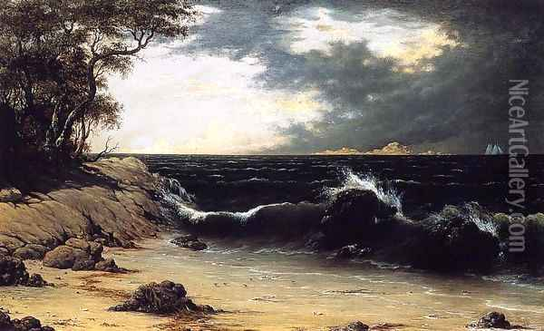 Storm Clouds Over The Coast Oil Painting - Martin Johnson Heade