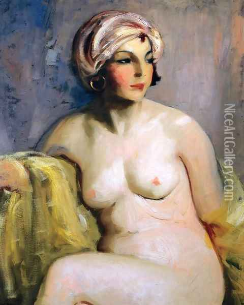 Zara Levy Nude Oil Painting - Robert Henri