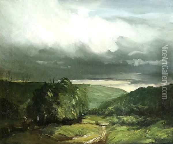 Storm Weather Wyoming Valley Oil Painting - Robert Henri
