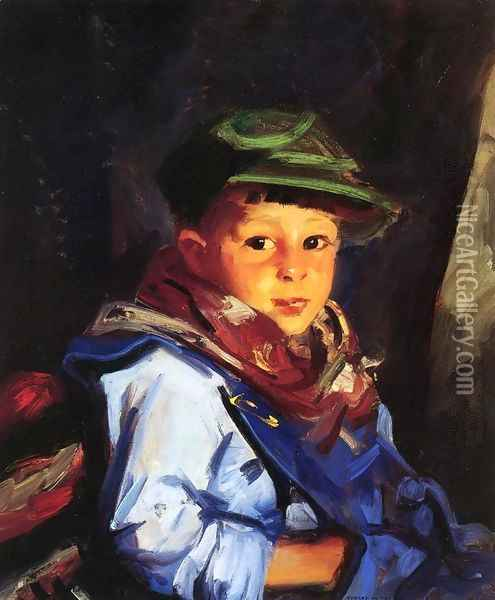 Boy with a Green Cap (or Chico) Oil Painting - Robert Henri