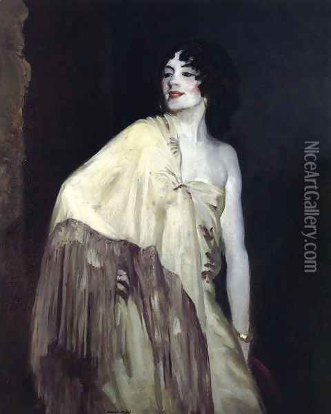 Dancer In A Yellow Shawl Oil Painting - Robert Henri