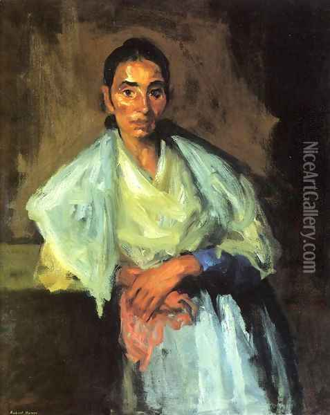 Gypsy Oil Painting - Robert Henri