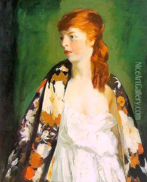 Edna 1910 Oil Painting - Robert Henri