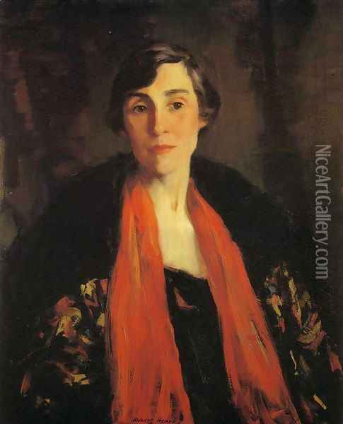 Portrait of Mary Fanton Roberts Oil Painting - Robert Henri