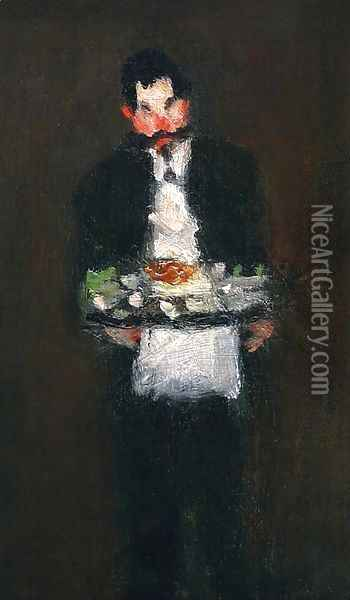 The Waiter Oil Painting - Robert Henri