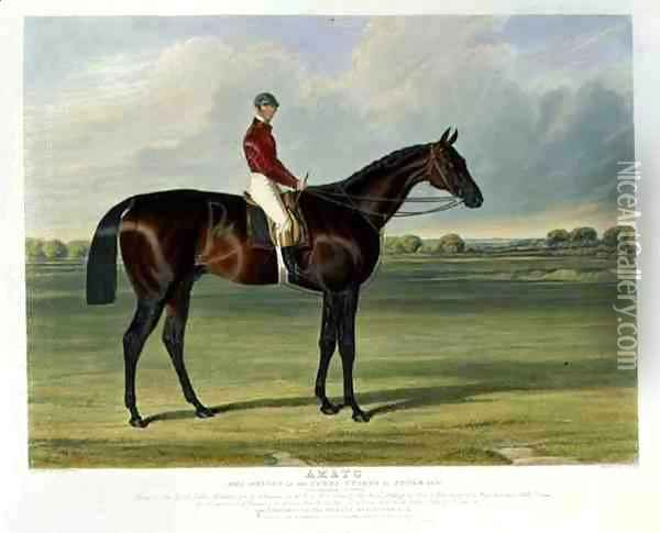 'Amato', the Winner of the Derby Stakes at Epsom, 1838 Oil Painting - John Frederick Herring Snr
