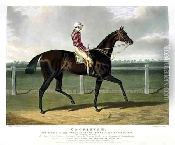 'Chorister', the Winner of the Great St. Leger Stakes at Doncaster, 1831 Oil Painting - John Frederick Herring Snr