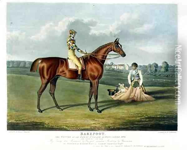 'Barefoot', the Winner of the Great St. Leger at Doncaster, 1823 Oil Painting - John Frederick Herring Snr