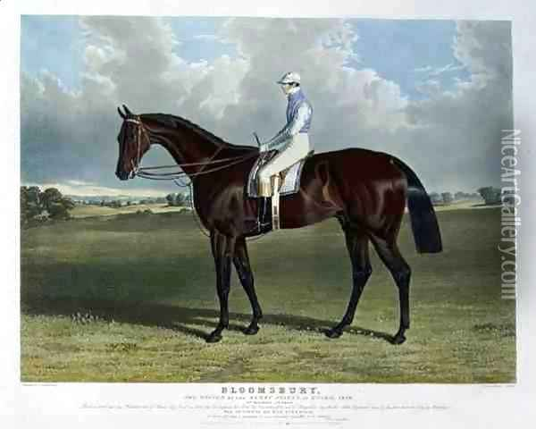 'Bloomsbury', the Winner of the Derby Stakes at Epsom, 1839 Oil Painting - John Frederick Herring Snr