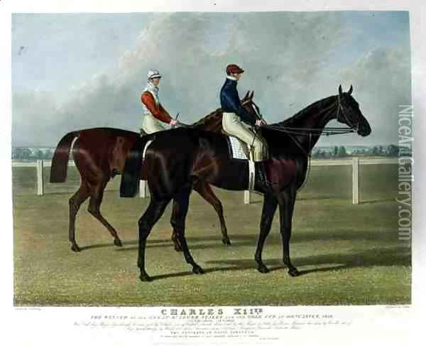 'Charles XII', the Winner of the Great St. Leger Stakes at Doncaster, 1839 Oil Painting - John Frederick Herring Snr