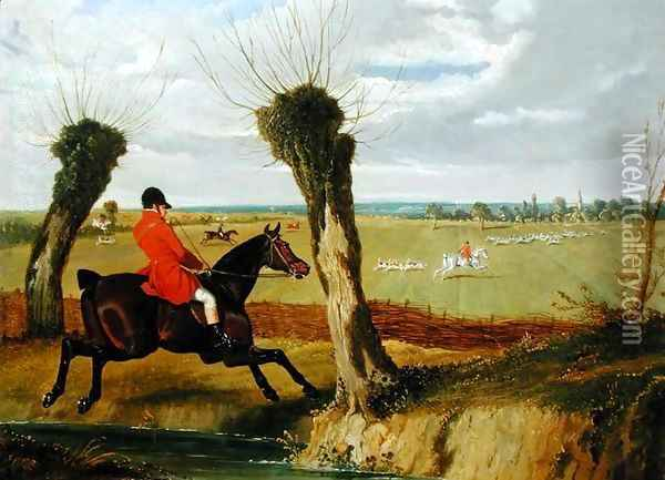 The Suffolk Hunt - Full Cry Oil Painting - John Frederick Herring Snr