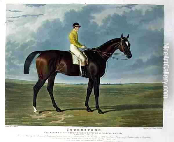 'Touchstone', the Winner of the Great St. Leger Stakes at Doncaster, 1834 Oil Painting - John Frederick Herring Snr