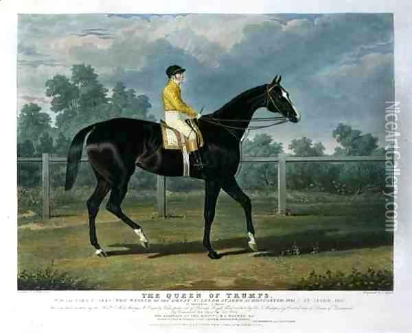 'Queen of Trumps', Won the Oaks Stakes (the Winner of the Great St. Leger Stakes at Doncaster, 1835) at Epsom, 1835 Oil Painting - John Frederick Herring Snr