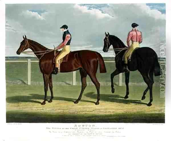 'Rowton', the Winner of the Great St. Leger Stakes at Doncaster, 1829 Oil Painting - John Frederick Herring Snr