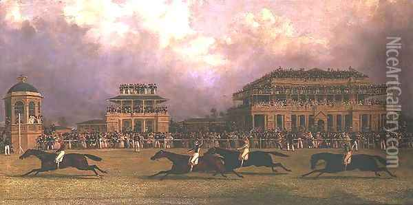 The Doncaster Gold Cup of 1838 Oil Painting - John Frederick Herring Snr