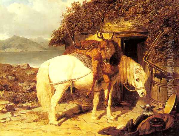 The End of the Day Oil Painting - John Frederick Herring Snr