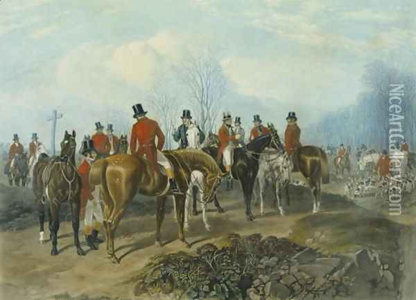 The Meet, engraved by Huffman and Mackrill 2 Oil Painting - John Frederick Herring Snr