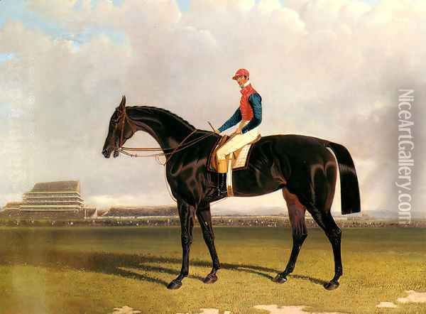 Lord Chesterfield's Industry with William Scott up at Epsom Oil Painting - John Frederick Herring Snr