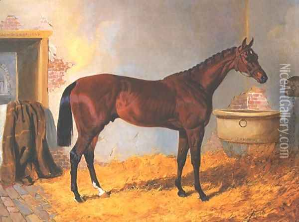 Nutwith Oil Painting - John Frederick Herring Snr