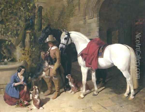 The Barons Charger 1850 Oil Painting - John Frederick Herring Snr