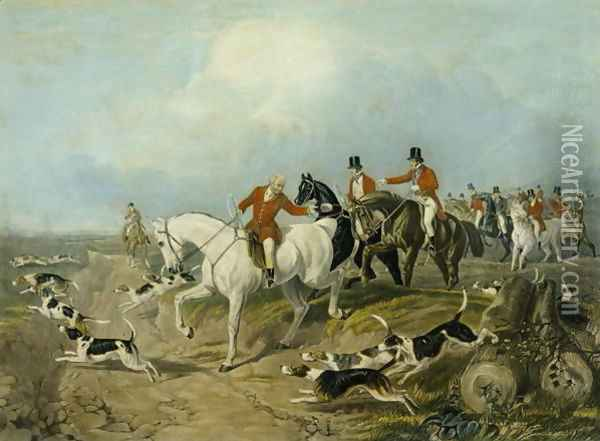 The Find, engraved by Huffman and Mackrill Oil Painting - John Frederick Herring Snr
