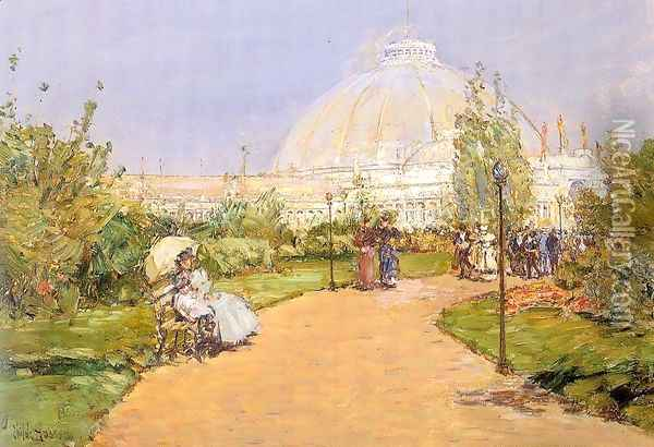 Horticultural Building, World's Columbian Exposition, Chicago 1893 Oil Painting - Childe Hassam