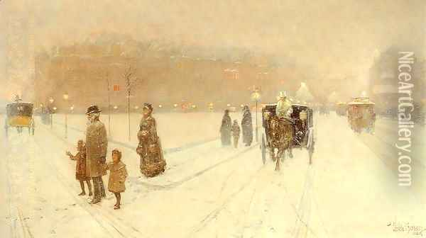 A City Fairyland 1886 Oil Painting - Childe Hassam