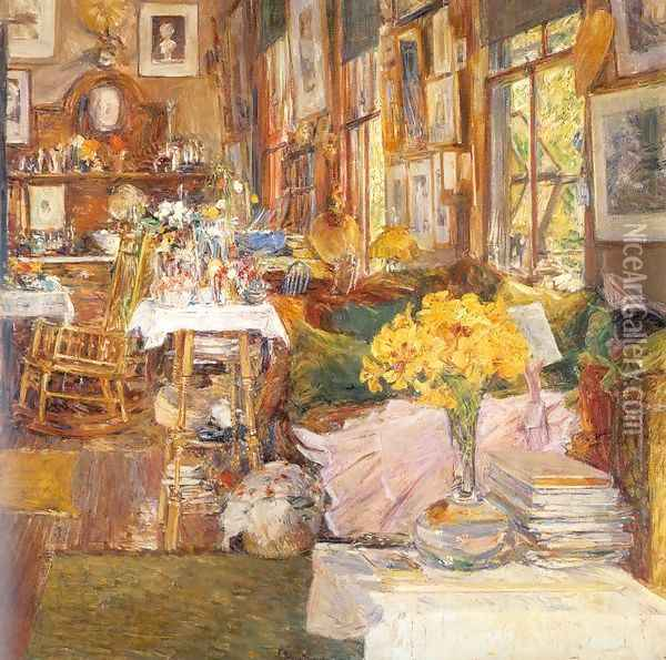 The Room of Flowers 1894 Oil Painting - Childe Hassam