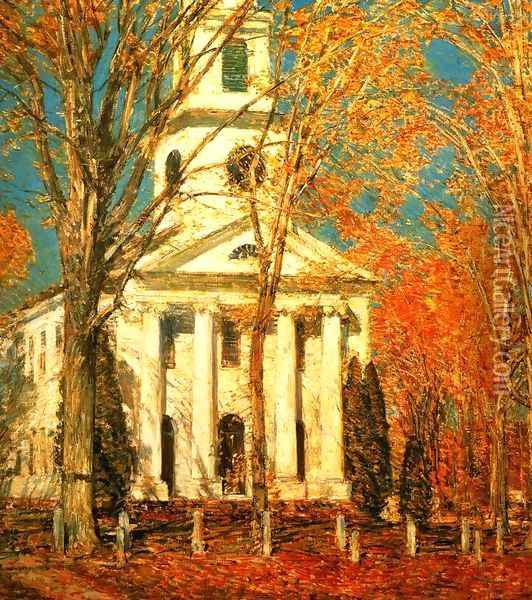 Church at Old Lyme 2 Oil Painting - Childe Hassam