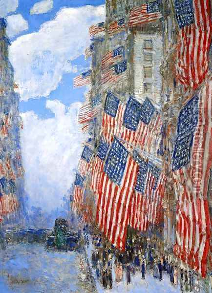 The Fourth of July, 1916 Oil Painting - Childe Hassam