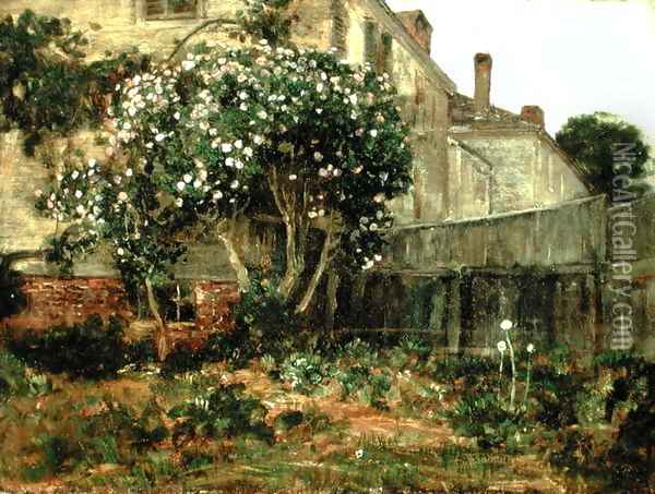 Lilac Time Oil Painting - Childe Hassam
