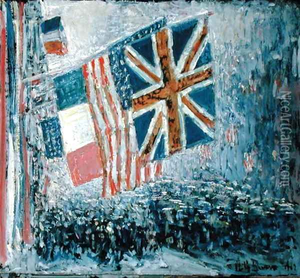 The Big Parade Oil Painting - Childe Hassam