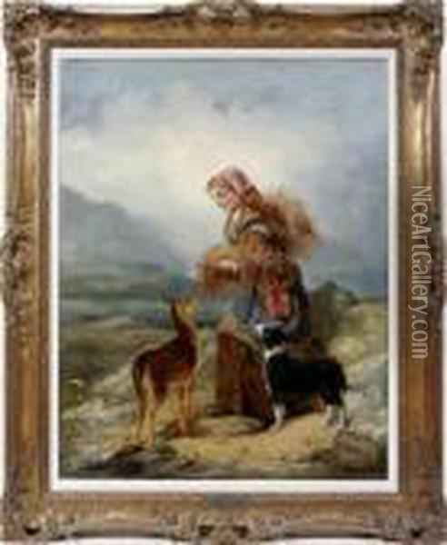 Highlandcompanions Oil Painting - Richard Ansdell
