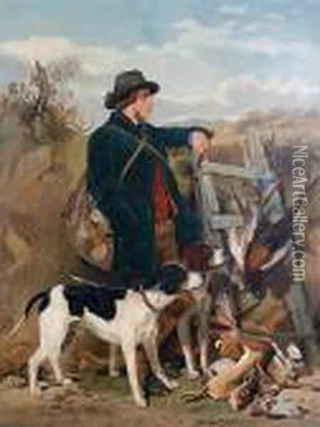 The Scotch Ghillie And The Englishgamekeeper Oil Painting - Richard Ansdell