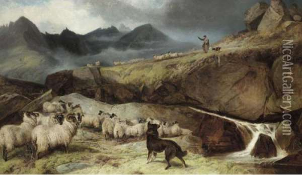 The Isle Of Skye Oil Painting - Richard Ansdell