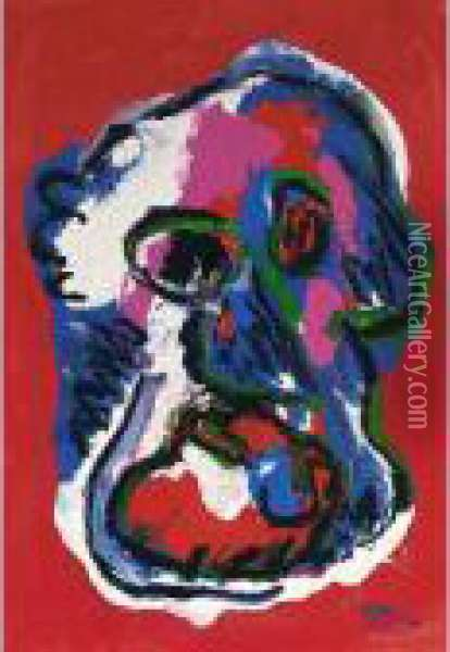 Face Oil Painting - Karl Appel